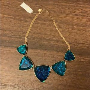 NWT Landry Blue Ocean Resin Statement Necklace
